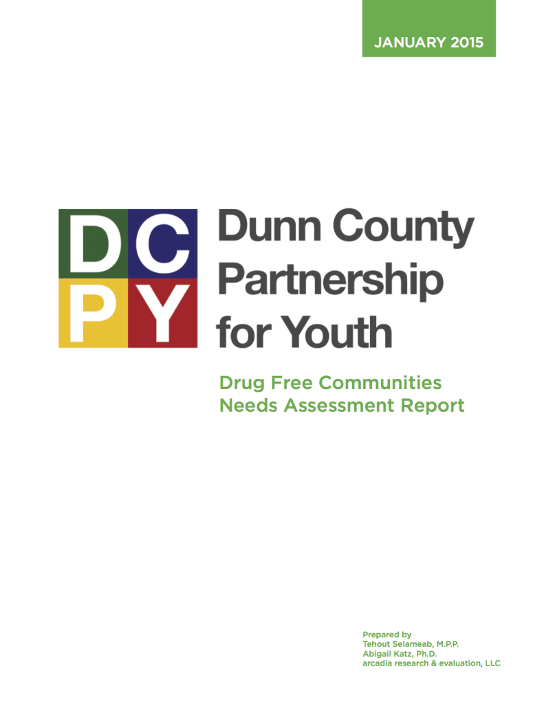 DCPFY Drug Free Communities Needs Assessment Report (January 2015)